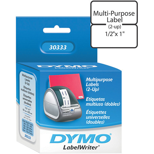 dymo labelwriter extra small multipurpose 2 up labels 30333