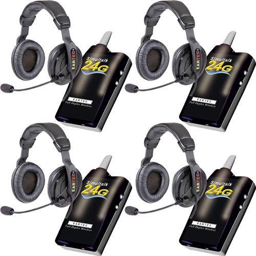 Eartec 4 Simultalk 24g Beltpacks With Proline Double Slt24g4pd