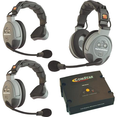 Eartec Comstar Xt 3 3 User Full Duplex Wireless Intercom