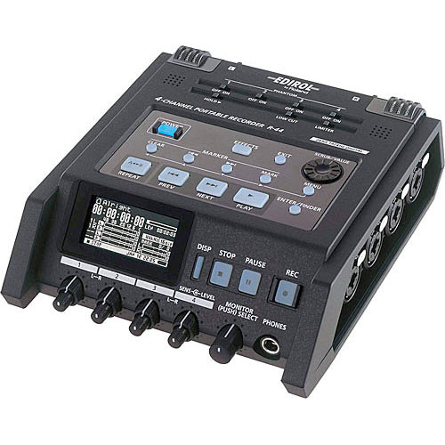 Solid State Battery >> Edirol / Roland R-44 Solid-State Four-Channel Portable R-44-E