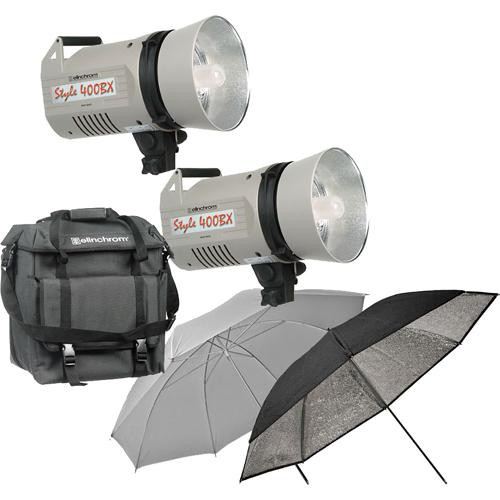 Elinchrom Frx 400 Studio Lighting Kit: Elinchrom Style 400BX Economy 2 Monolight Kit EL 400BXECON B&H