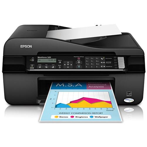 epson workforce 520 wireless all in one inkjet printer rh bhphotovideo com Epson Workforce 845 Epson Workforce 323