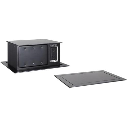 FSR PTBBLK PopUp Table Box AC Outlet Gang Black PTBBLK - Table outlet box