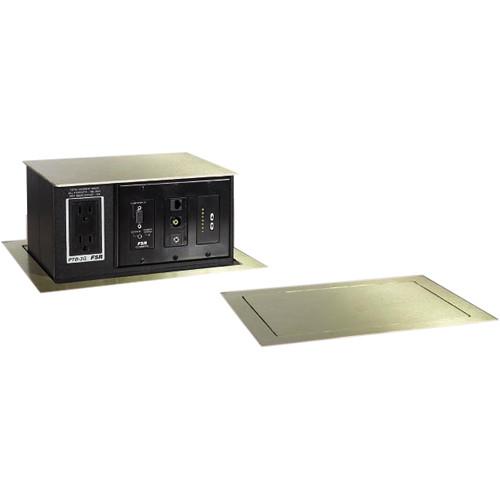 FSR PTBBRS PopUp Table Box AC Outlet Gang Brass PTBBRS - Table outlet box