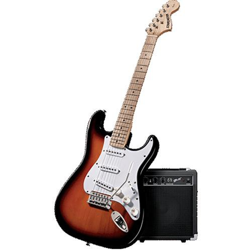 fender starcaster complete electric guitar package pack3tsbmn. Black Bedroom Furniture Sets. Home Design Ideas
