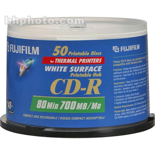 fujifilm cd r white thermal hub disc 50 600002934 b h photo. Black Bedroom Furniture Sets. Home Design Ideas