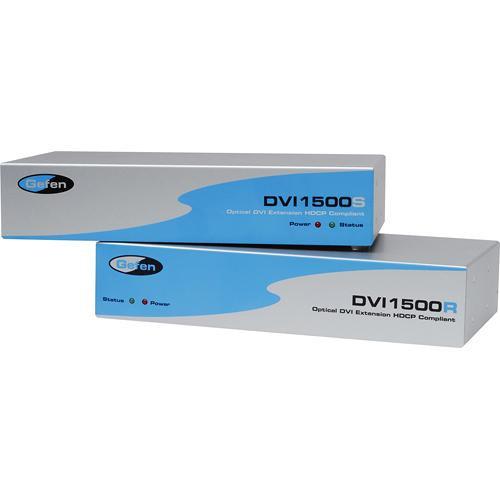 Gefen Dvi Over Fiber Extender Sender And Receiver Ext-dvi-1500hd Boosters, Extenders & Antennas Used