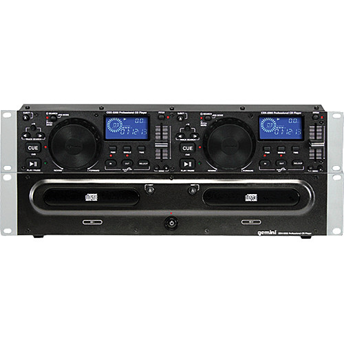 gemini cdx 2200 dual rackmount cd player cdx 2200 b h photo. Black Bedroom Furniture Sets. Home Design Ideas