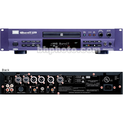Hhhb: HHB CDR830/BurnIT Plus CD Recorder CDR830PLUS B&H Photo Video
