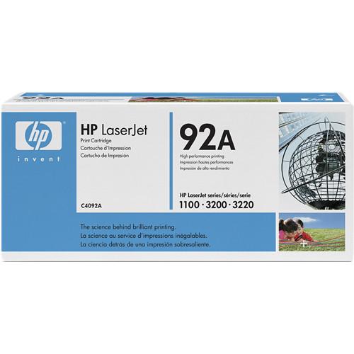 HP LaserJet 92A Black Toner Cartridge C4092A B&H Photo Video