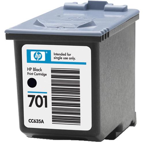 Hp 701 black inkjet print cartridge cc635a b amp h photo video