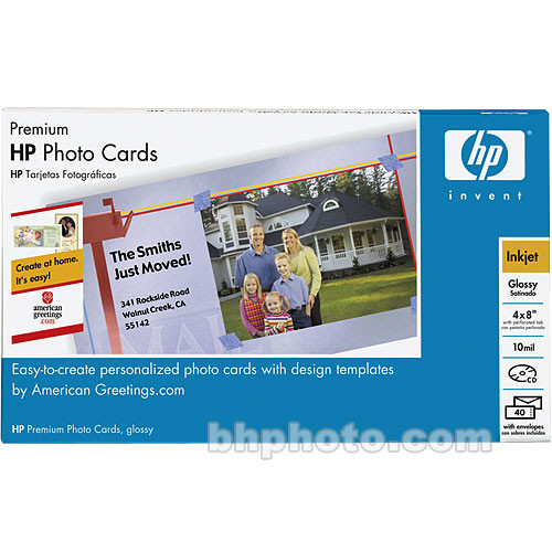 Hp premium photo greeting cards 4x8 40 cards q7892a hp premium photo greeting cards 4x8 40 cards with envelopes m4hsunfo
