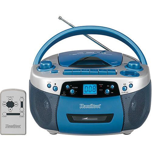 HamiltonBuhl MPC-5050PLUS Portable Boombox with CD, Cassette, AM/FM ...