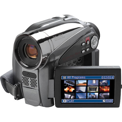 hitachi dzhs500a dvd hdd hybrid camcorder kit dzhs500akit b h rh bhphotovideo com