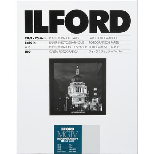 Ilford multigrade iv rc deluxe paper pearl 8 x 10 100 sheets