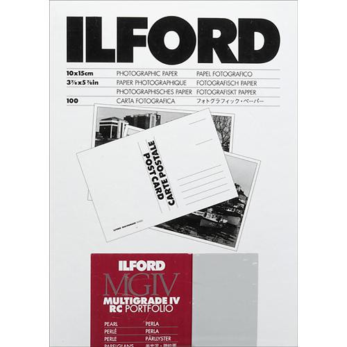 Ilford multigrade iv rc portfolio paper pearl 4 x 6 100 sheets