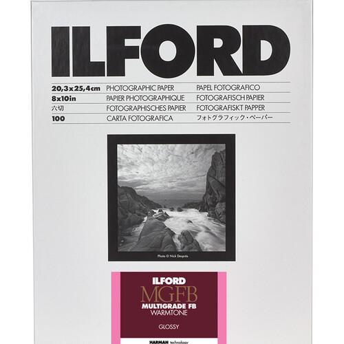 17,8x24 cm - GLOSSY - 100 SHEETS - Ilford Multigrade Fiber ...