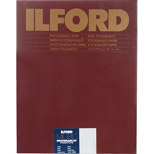 Ilford multigrade warmtone resin coated paper 8 x 10 pearl 250 sheets