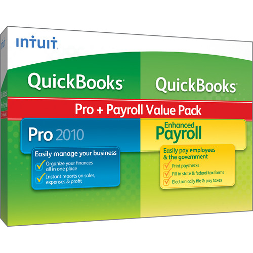 Intuit QuickBooks Pro 2010 & Enhanced Payroll Value 409615