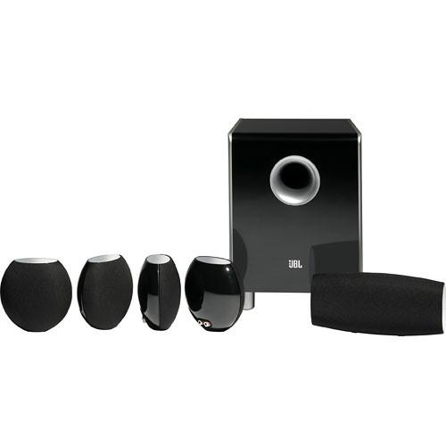 jbl cs480bg 6 piece home cinema speaker package cs480bg b h. Black Bedroom Furniture Sets. Home Design Ideas