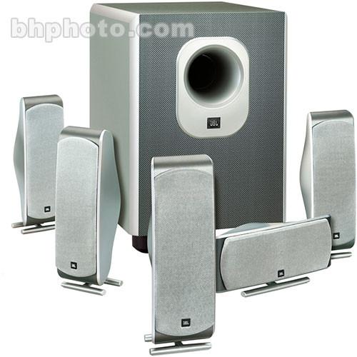 jbl scs 300 5 complete 6 piece home theater speaker scs3005 b h. Black Bedroom Furniture Sets. Home Design Ideas
