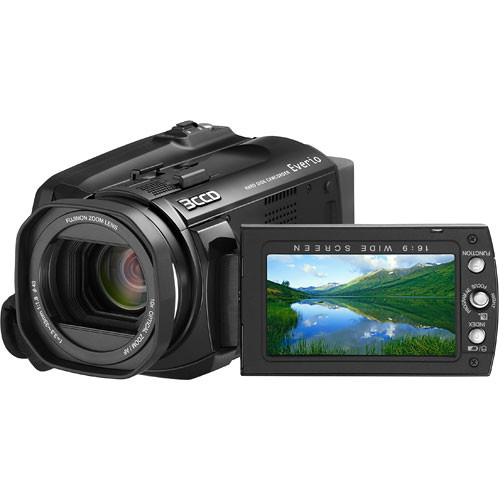 how to turn on jvc everio camcorder