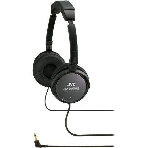 jvc ha nc80 on ear noise cancelling stereo headphones ha nc80. Black Bedroom Furniture Sets. Home Design Ideas