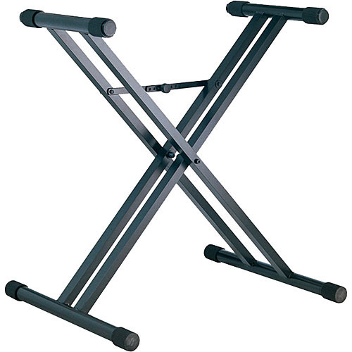 k m 18980 heavy duty double x keyboard stand black. Black Bedroom Furniture Sets. Home Design Ideas