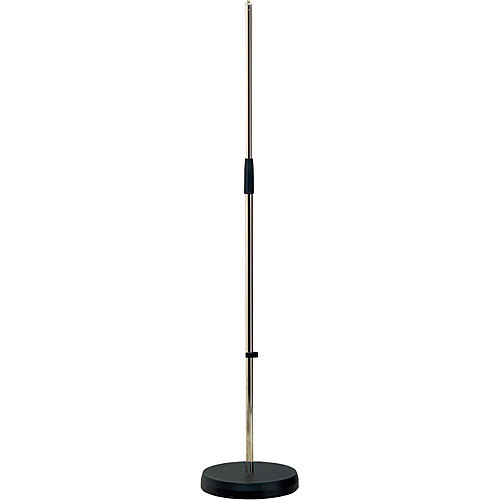 k m 260 straight microphone stand nickel 26000 500 01 b h. Black Bedroom Furniture Sets. Home Design Ideas