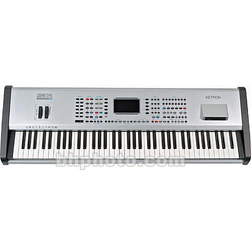 ketron sd1 plus 76 key arranger workstation keyboard sd1p b h. Black Bedroom Furniture Sets. Home Design Ideas