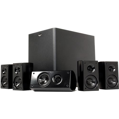 klipsch hd 300 5 1 channel hd speaker system hd theater 300 b h. Black Bedroom Furniture Sets. Home Design Ideas