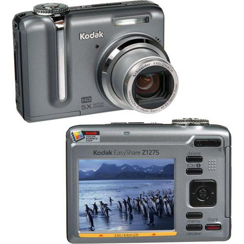 kodak easyshare z1275 zoom digital camera 1679109 b h photo rh bhphotovideo com Kodak EasyShare Camera Z990 Kodak EasyShare Gallery