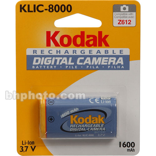 Kodak Klic 8000 Rechargeable Li Ion Battery 8324154 B Amp H Photo