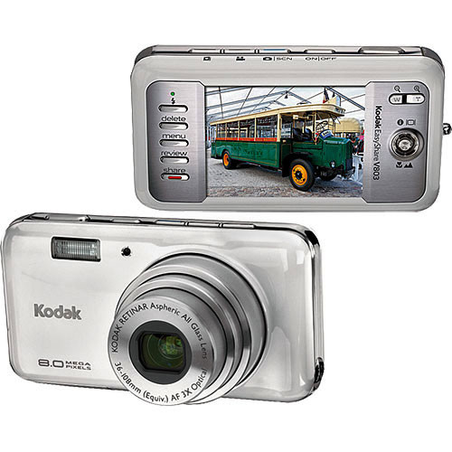 Kodak EasyShare V803 Digital Camera (Silver Essence) 8480261 B&H