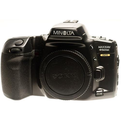 used konica minolta minolta maxxum 450si qd date 35mm slr rh bhphotovideo com