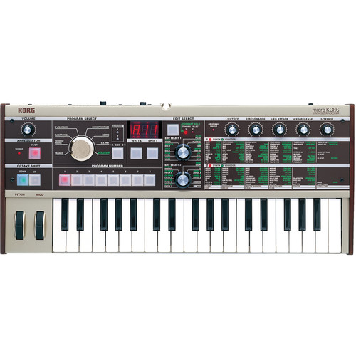 korg microkorg 37 key synthesizer and vocoder microkorg b h. Black Bedroom Furniture Sets. Home Design Ideas