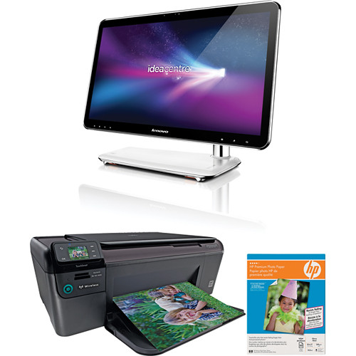 lenovo ideacentre a300 21 5 desktop computer with printer. Black Bedroom Furniture Sets. Home Design Ideas