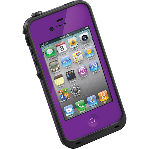 lifeproof case iphone 4s lifeproof for iphone 4 4s purple 1001 04 b amp h photo 15616