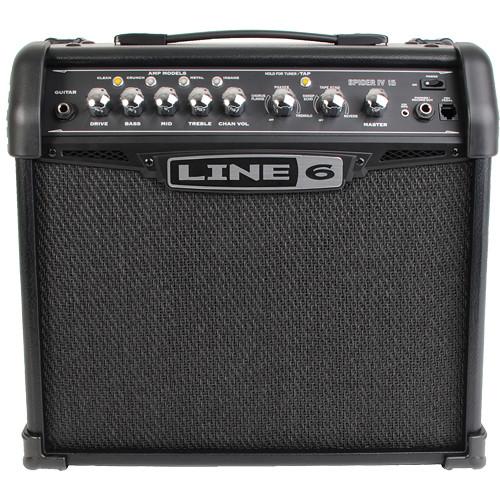 line 6 spider iv 15 combo guitar amplifier 99 010 3205 b h rh bhphotovideo com Line 6 Amp Review Line 6 Amo