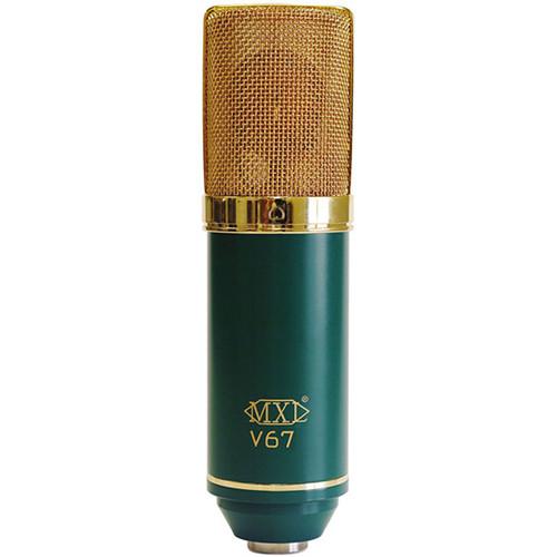 mxl v67g large diaphragm cardioid condenser microphone v67g b h. Black Bedroom Furniture Sets. Home Design Ideas