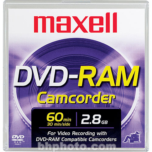 Maxell 2 8gb Dvd Ram Disc For Dvd Camcorders 567620 B Amp H Photo