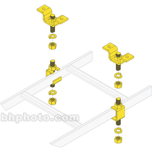 Middle Atlantic Clh 5 8chk Slotted Ladder Support Clh 5