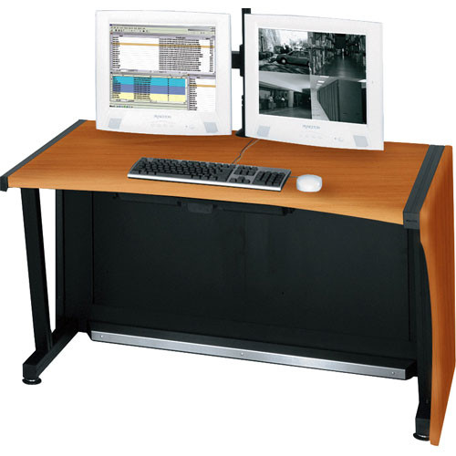 Middle Atlantic 48 Lcd Monitoring Command Desk Honey Maple