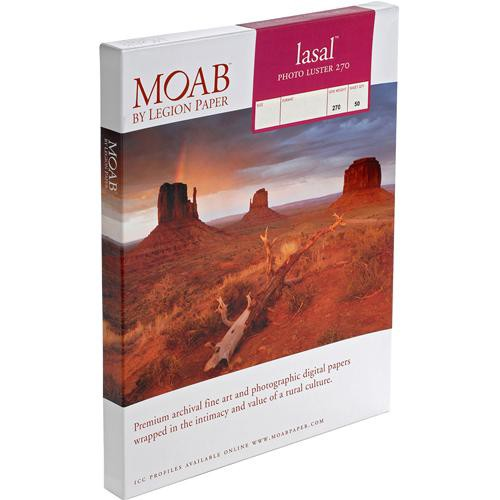 moab paper A new, fourth-generation resin coating produces an extra-wide color gamut never before seen in a luster paper named after the lasal mountains, whose snowy peaks tower above the moab, lasal exhibition luster keeps true to its namesake, incorporating many of the elements found in the surrounding moab environment.