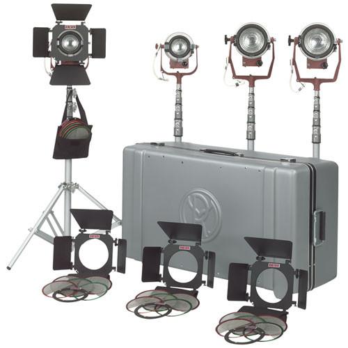 Mole Richardson Zip Light: Mole-Richardson Tweenie II 4 Light Combo Kit (120-240V