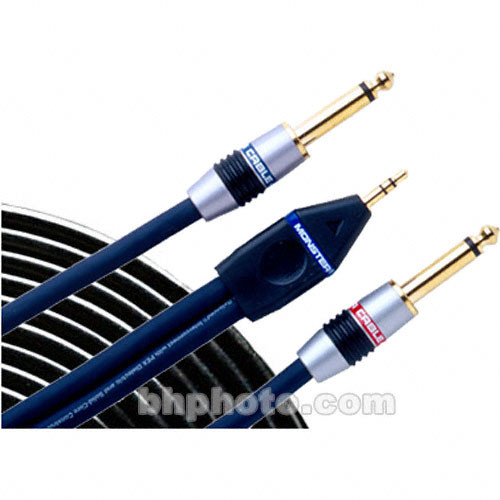 Monster Cable Stereo Mini Male to 2 1/4\