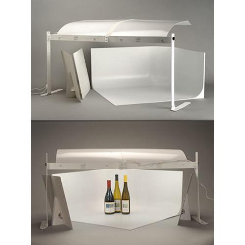 mystudio ms32 tabletop photo studio kit with 5000k lighting ms32. Black Bedroom Furniture Sets. Home Design Ideas