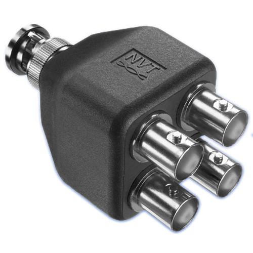 Coaxial Cable Splitter : Nvt bnc coax splitter adapter nv ec b h photo video