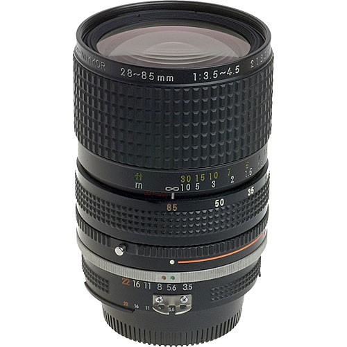 nikon zoom wide angle telephoto 28 85mm f 3 5 4 5 ais 1443 b h rh bhphotovideo com best nikon manual focus zoom lenses nikkor manual zoom lenses