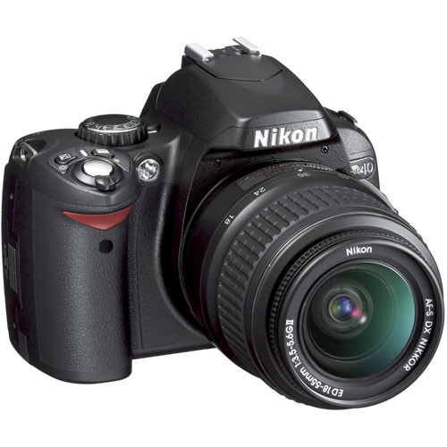 nikon d40 slr digital camera kit with 18 55mm lens 25420 b h rh bhphotovideo com